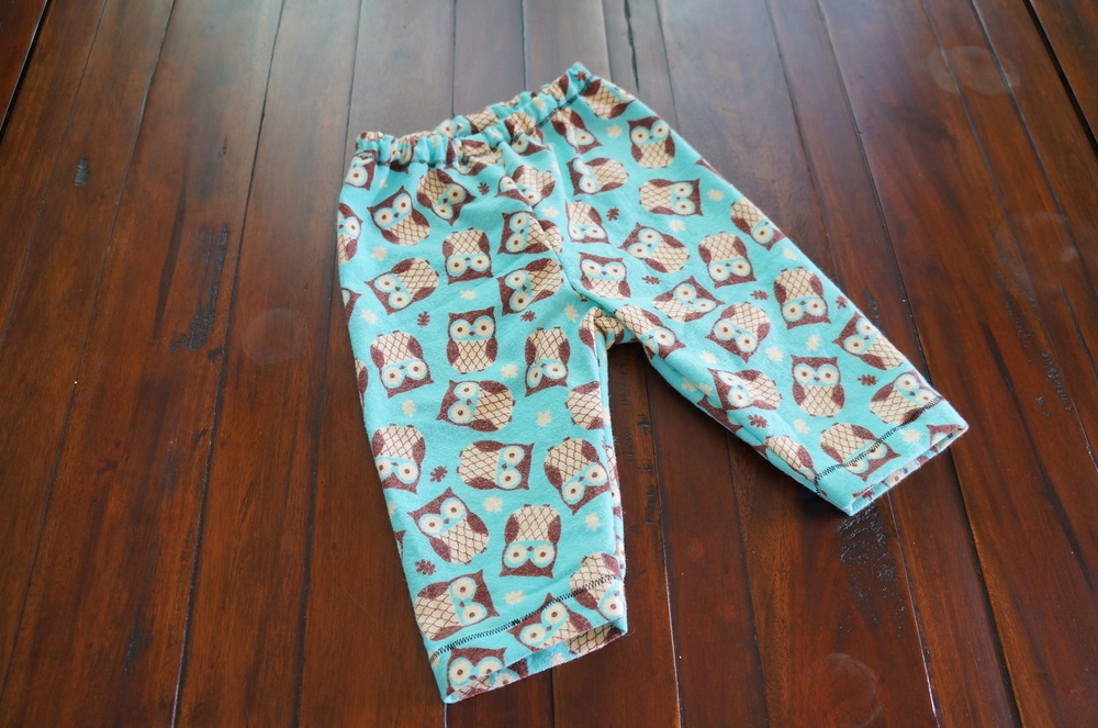Pants out of soft flannel, prewashed twice! The pattern was a Kwiksew pattern, K3375.