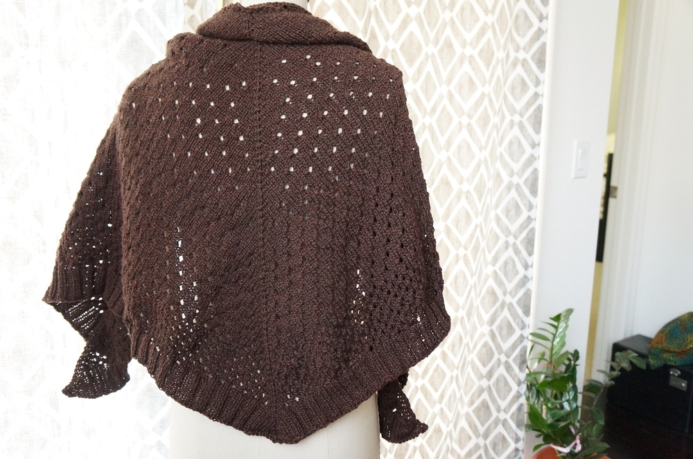 Mommy's postpartum project: Campside Shawl, designed by Alicia Plummer for Pom Pom Quarterly | Handmade Fashion at Candy & Bagel