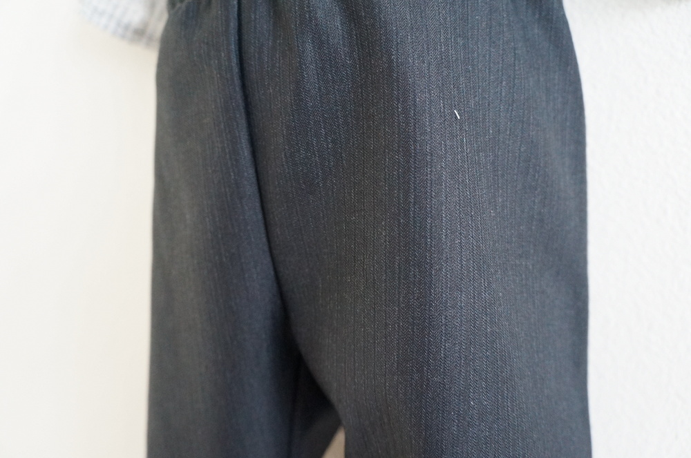 Pinstripe pants | Handmade Fashion at Candy & Bagel