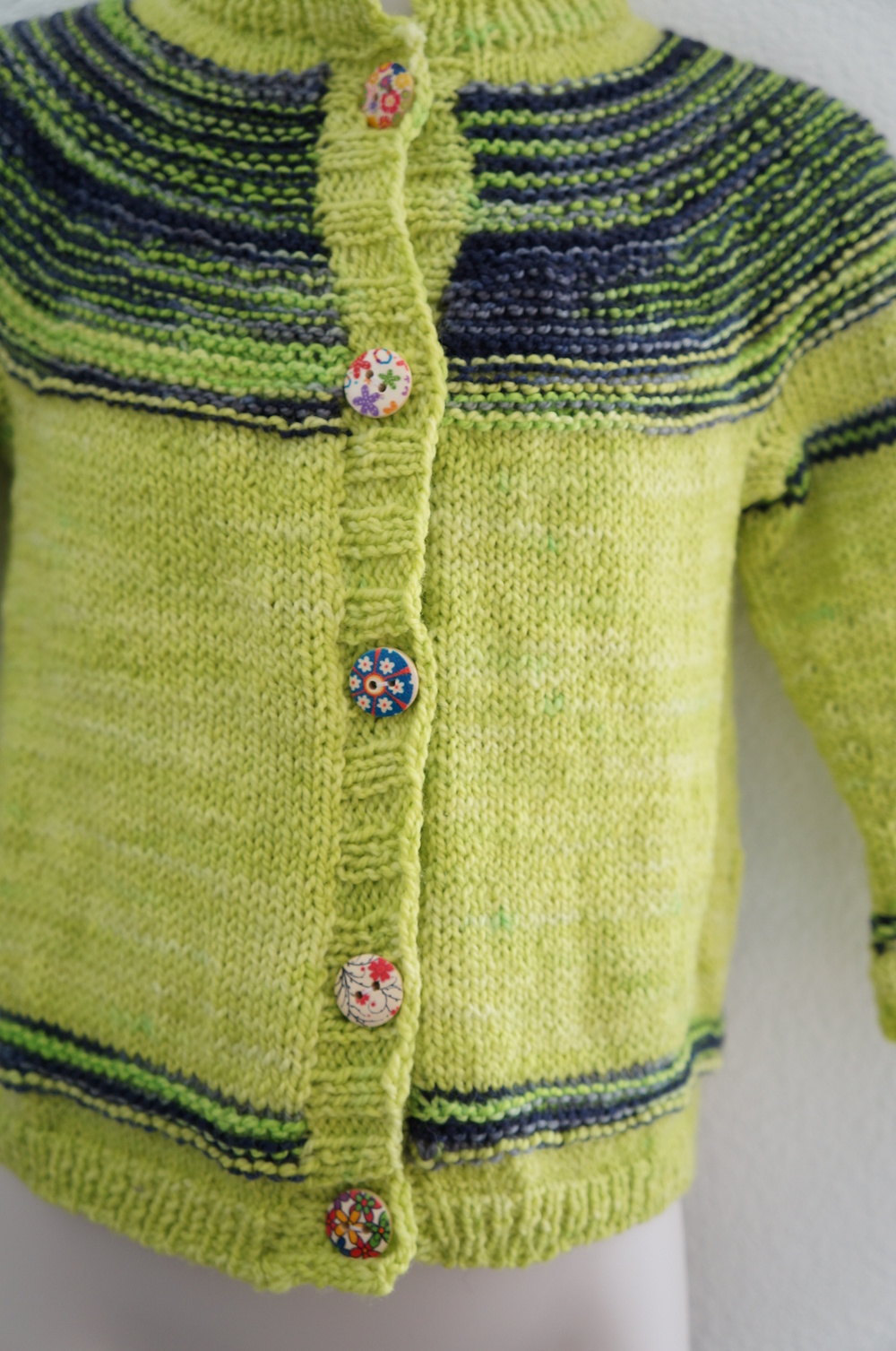 Oink Stripes Cardigan. | Handmade by Candy & Bagel