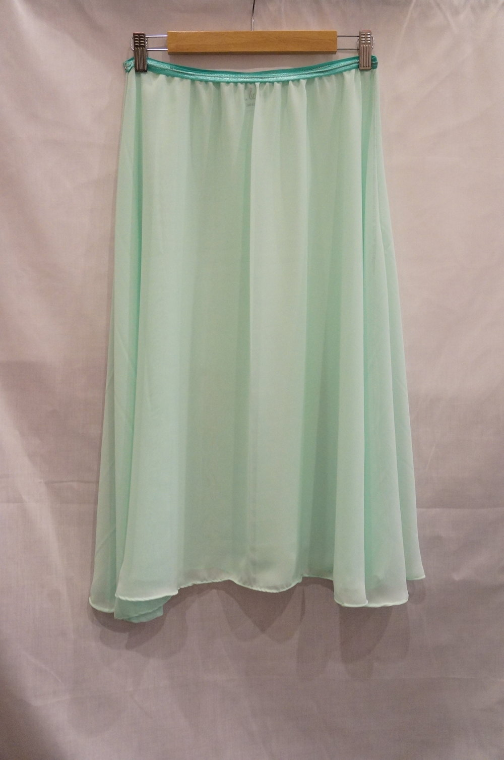 "C&B ""Toe Ball Heel"" Rehearsal Skirt in Mint"