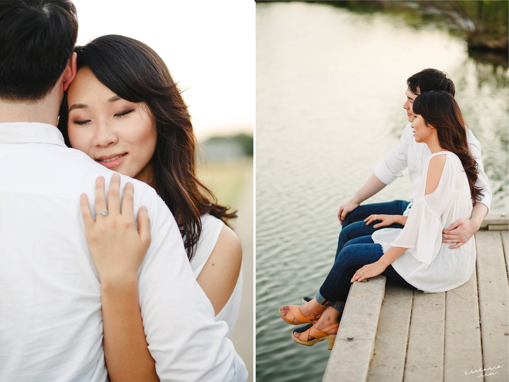 When the session couldn't get any more romantic, a man fishing with his son started singing in Italian! I couldn't help butimagine him as a gondolier in Venice with Sophie and Jahn sweetly enjoying the sunset.