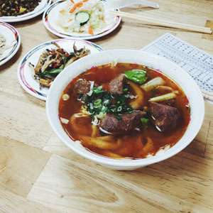 Beef Noodle Scoup. A classic .