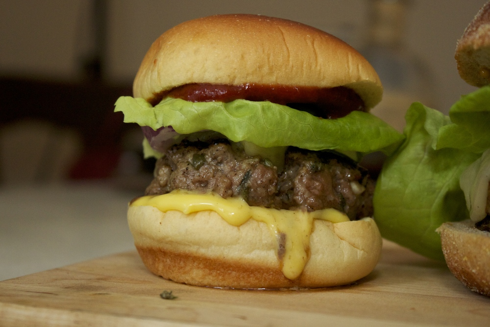 Hemingway burger with Meyer lemon mayo