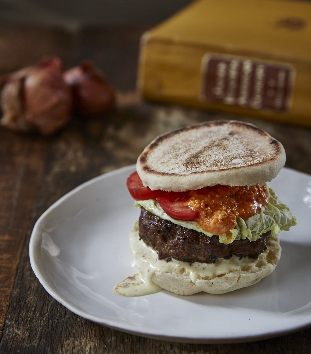 "Wine Enthusiast - ""Four Burgers to Win at Grilling Season."" Receipe development and styling. Photos by Colin Clark."