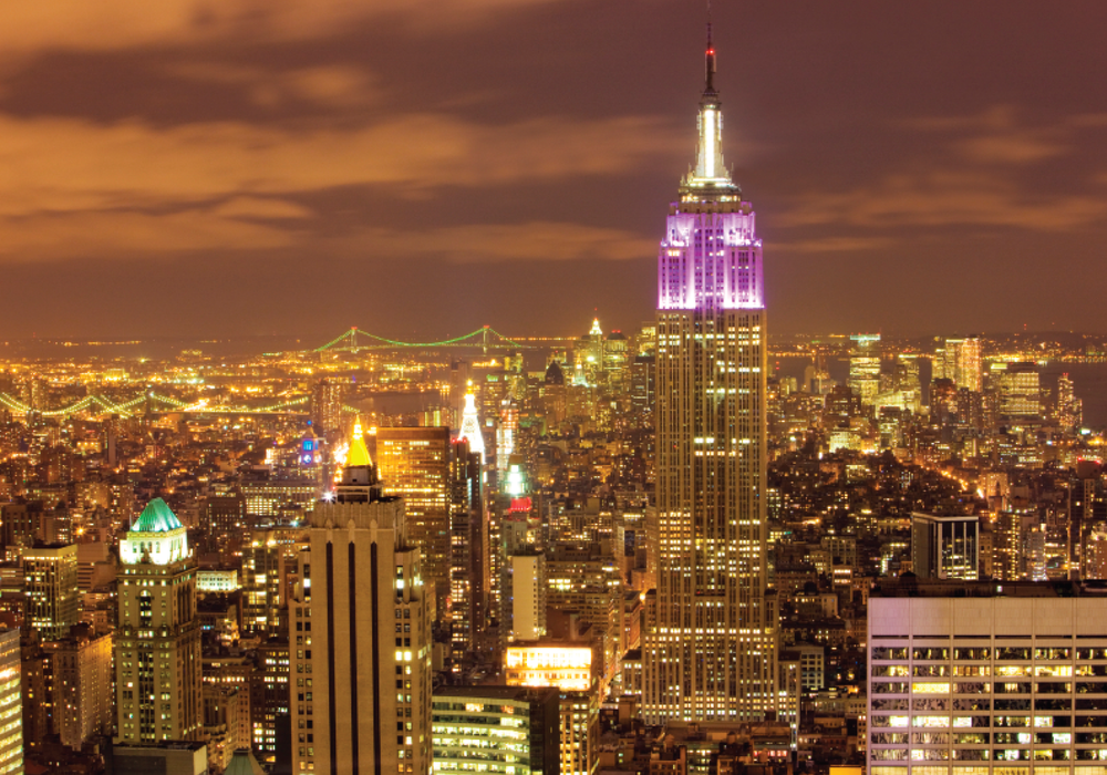 The Empire State Building replaced its traditional exterior tower lighting with an energy-efficient LED lighting system.