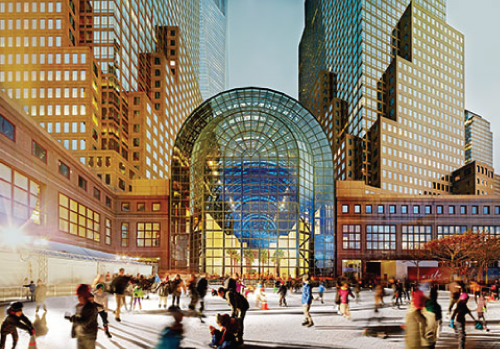 A $250-million renovation is transforming Manhattan's Brookfield Place (formerly the World Financial Center) into a world-class shopping and dining experience featuring an ice skating rink.
