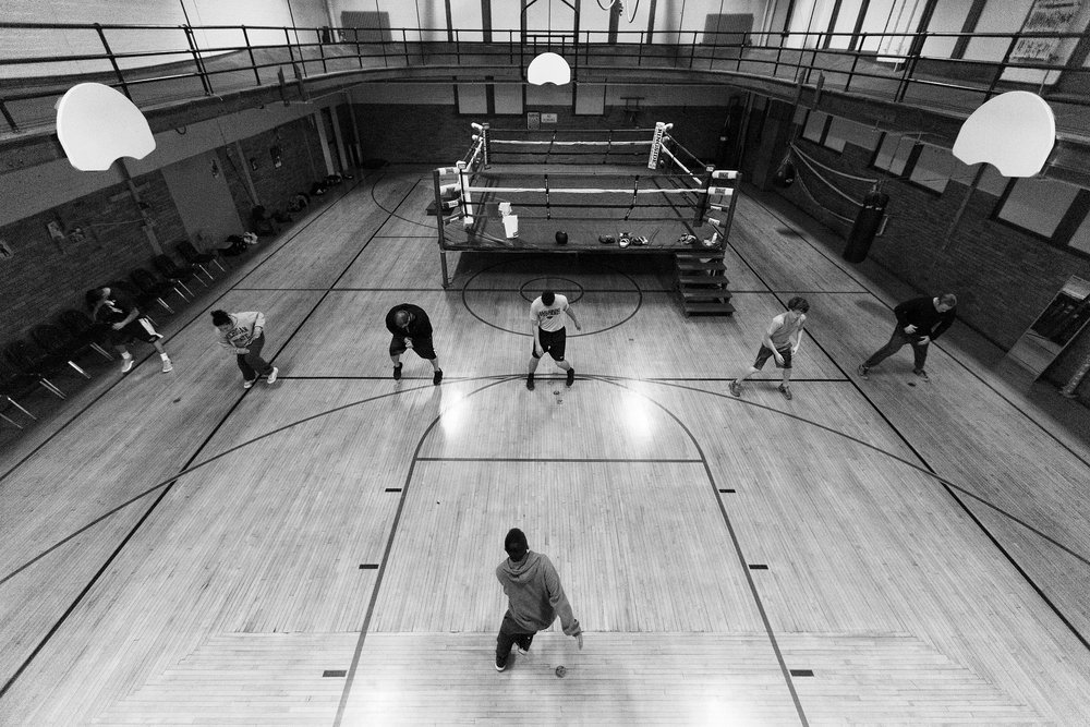 Boxers warm up at Eastside Boxing Club in Kalamazoo, Mich. on May 12, 2016. (Bryan Bennett | MLive.com)