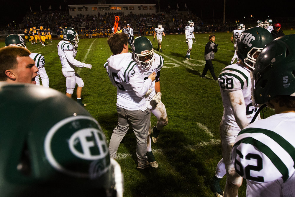 Forest Hills Central defeated Portage Central 27-13 in the MHSAA district 4 final at McCamley Field in Portage, Mich., Friday, Nov. 4, 2016. (Bryan Bennett | MLive.com)