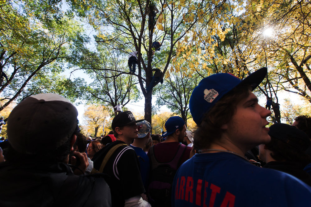 Chicago Cubs World Series victory parade in Chicago, Friday, Nov. 4, 2016. The parade was named the seventh largest human gathering in history with over 5 million people attending the parade.