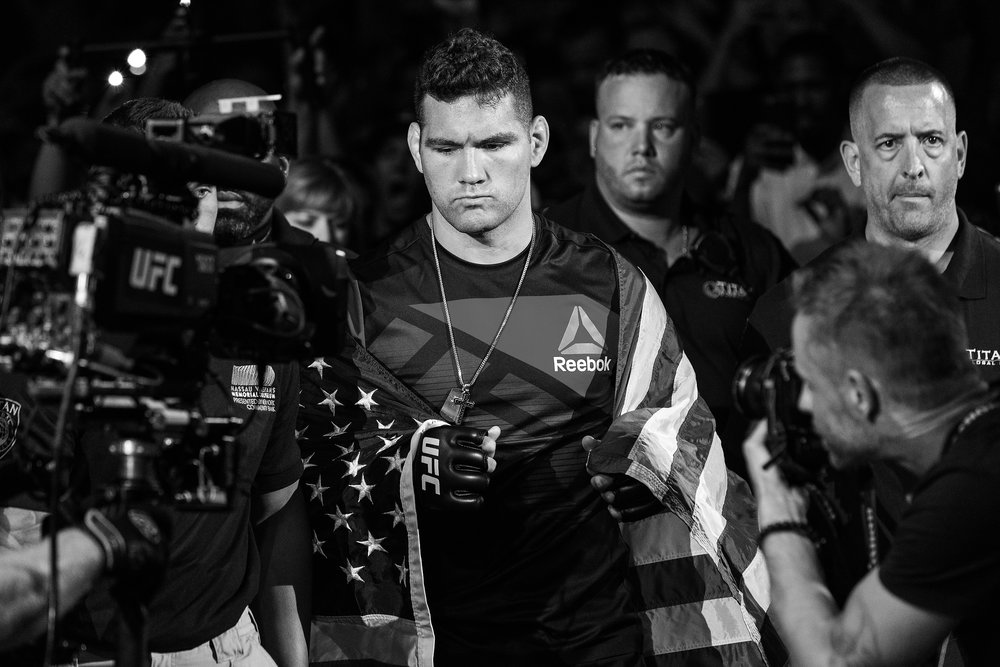 UFC Fighter Chris Weidman at UFC Fight Night Long Island on July 22, 2017 in Uniondale, N.Y. (Photo by Bryan Bennett/The Players' Tribune)