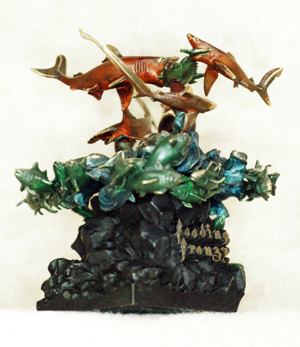 """Feeding Frenzy"" $900 Limited Edition Bronze 250"