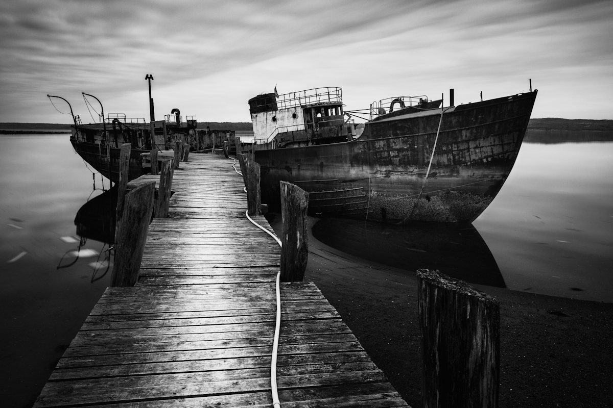 Fine art black and white photography from the new england coast by nate parker photography office