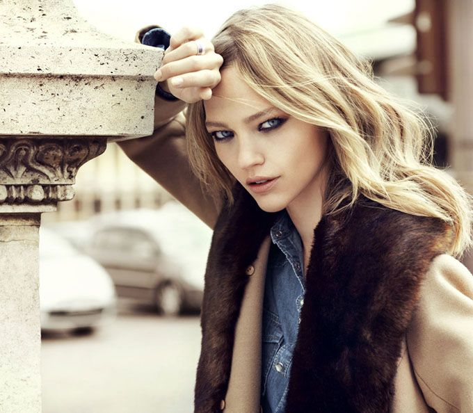 Sasha Pivovarova - the autumn beautiful story campaign