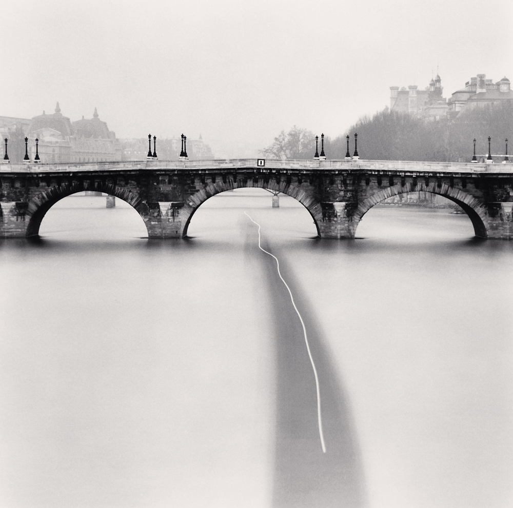 Michael Kenna - Passing Barge, Paris, France, 1988