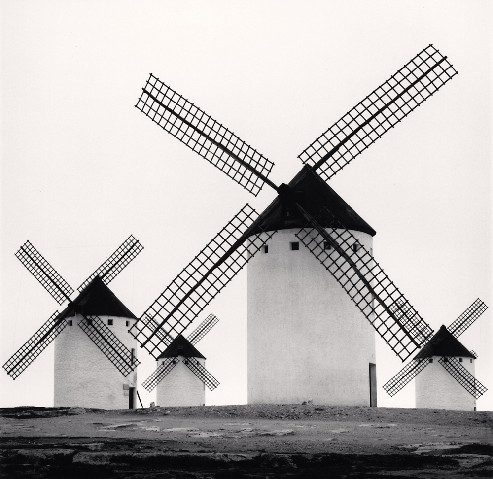 Michael Kenna -  Don Quixote S Giants, Study 5, Campo De Criptana, La Mancha, Spain, 1996