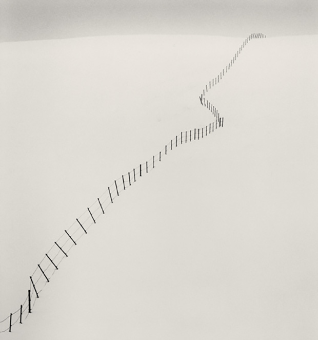 Michael Kenna -   Hillside Fence, Study 2, Japan 2002
