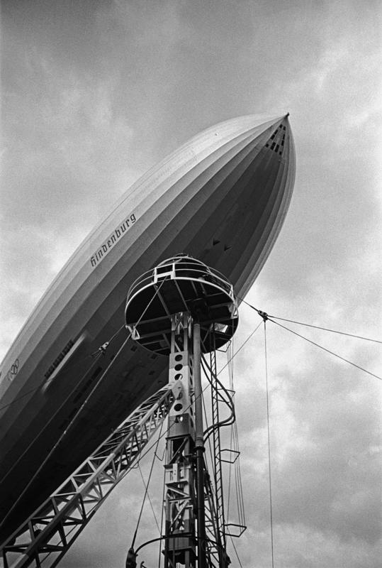 "LZ 129 ""Hindenburg"" at its mooring mast at Rhine-Main airport – Dr. Paul Wolff and Alfred Tritschler, 1936"