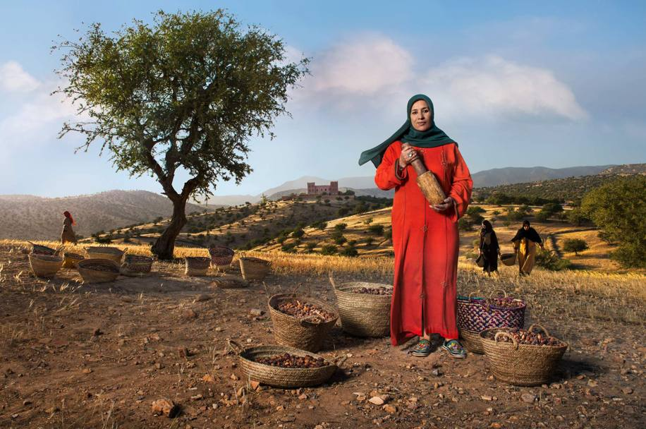 'Argan Oil Paladine' - Nadia Fatmi, president of the Tighanimine women's cooperative (a Slow Food Presidium), she is the guardian of the argan tree, which is similar to the olive but grows only on the southern coast of Morocco.