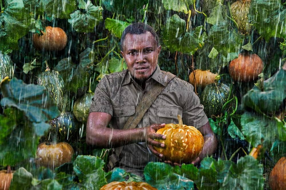 'Seed Saver' - John Kariuki Mwangi, Slow Food Foundation for Biodiversity Vice President and the coordinator of all operations in Kenya, he is 27 years old and stands guard over the pumpkins of Lare, which have been thriving in the area for centuries despite the highly irregular rainfall