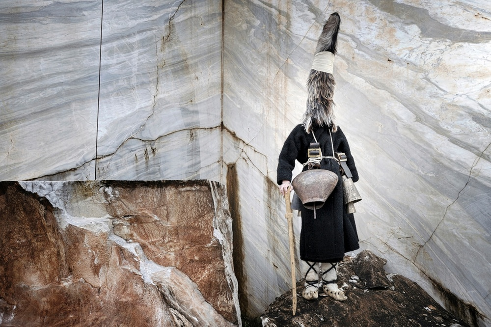 Tribes runner-up, Niko Vavdinoudis, Greece The old pagan ritual of the bell-bearers in Nikisiana village, Kavala, Greece Photograph: Niko Vavdinoudis/TPOTY