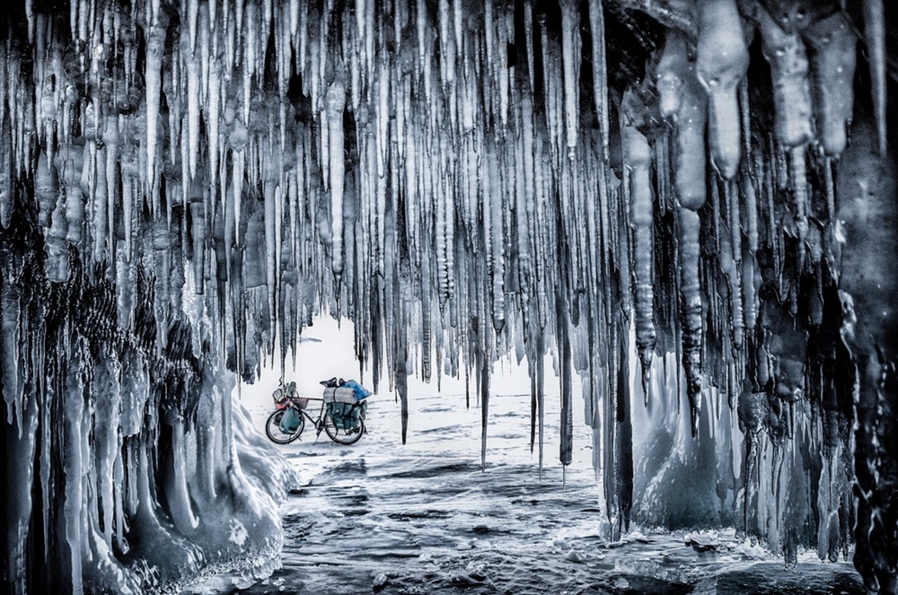 Earth, Air, Fire, Water, winner, best single image, Jakub Rybicki, Poland On a 800km bicycle journey across Baikal Lake, Ogoy Island, Russia Photograph: Jakub Rybicki/TPOTY