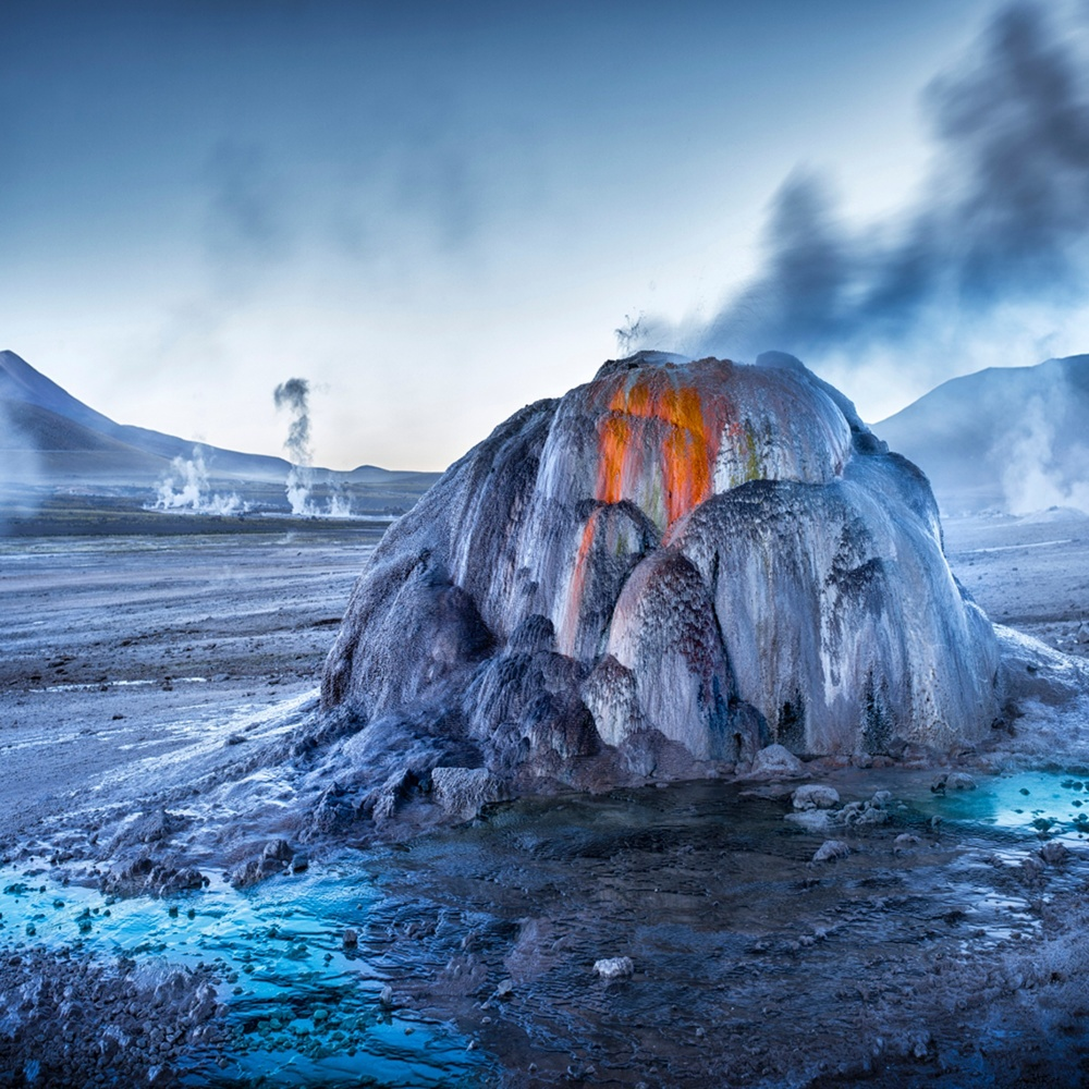 Earth, Air, Fire, Water, highly commended, Ignacio Palacios, Spain/Australia Tatio Geysers at sunrise, Atacama Desert, San Pedro de Atacama, Chile Photograph: Ignacio Palacios/TPOTY