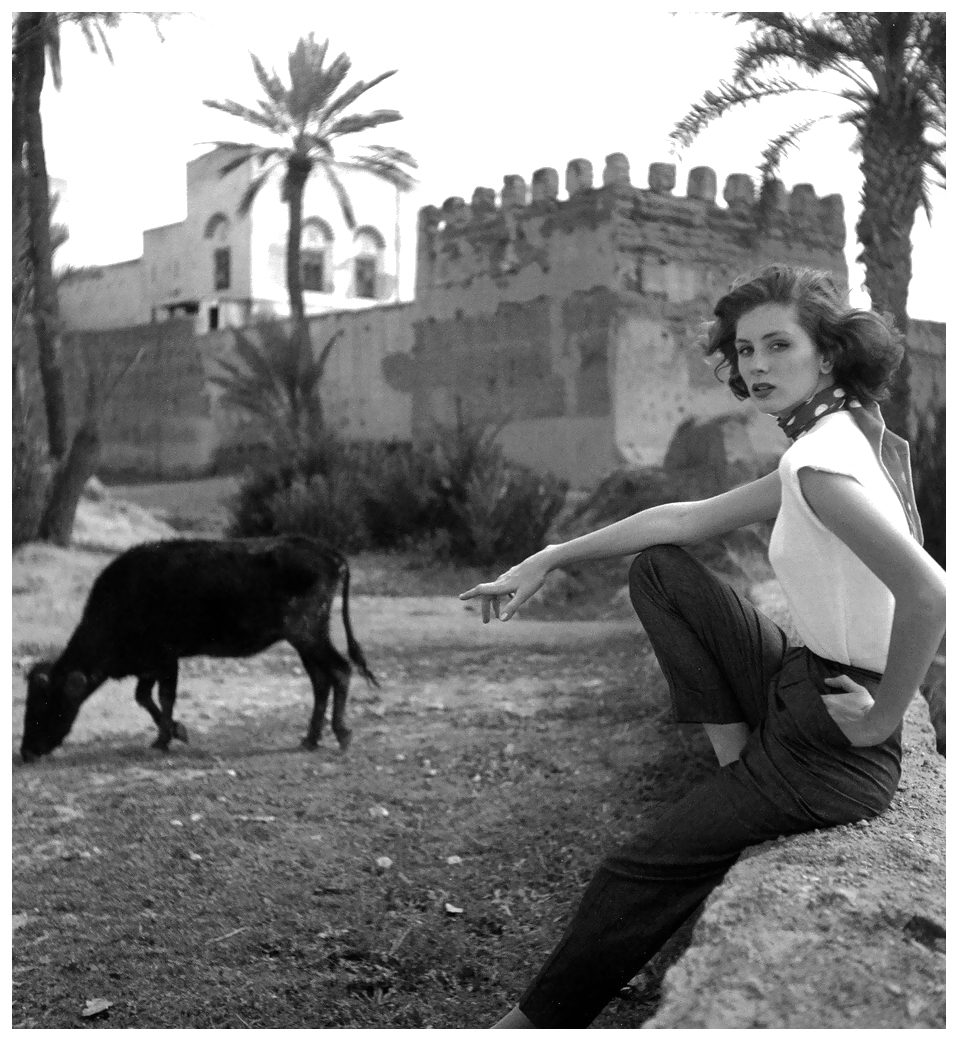 Suzy Parker by Georges Dambier, Morocco, ELLE, April 27, 1953