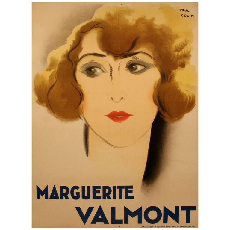 Original French Art Deco Period Poster by Paul Colin, 1928