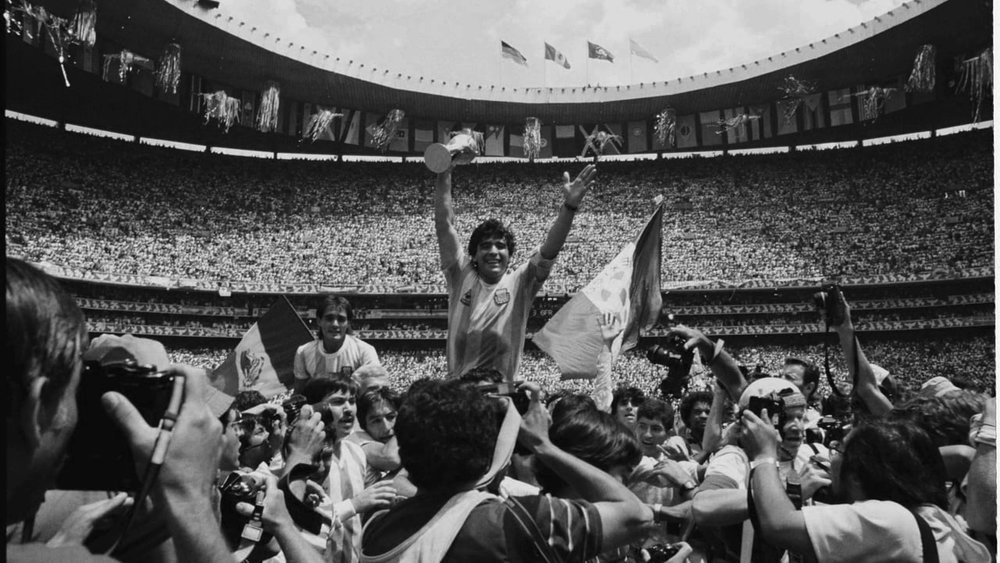 David Yarrow - Maradona, Mexico World Cup Final, 1996.