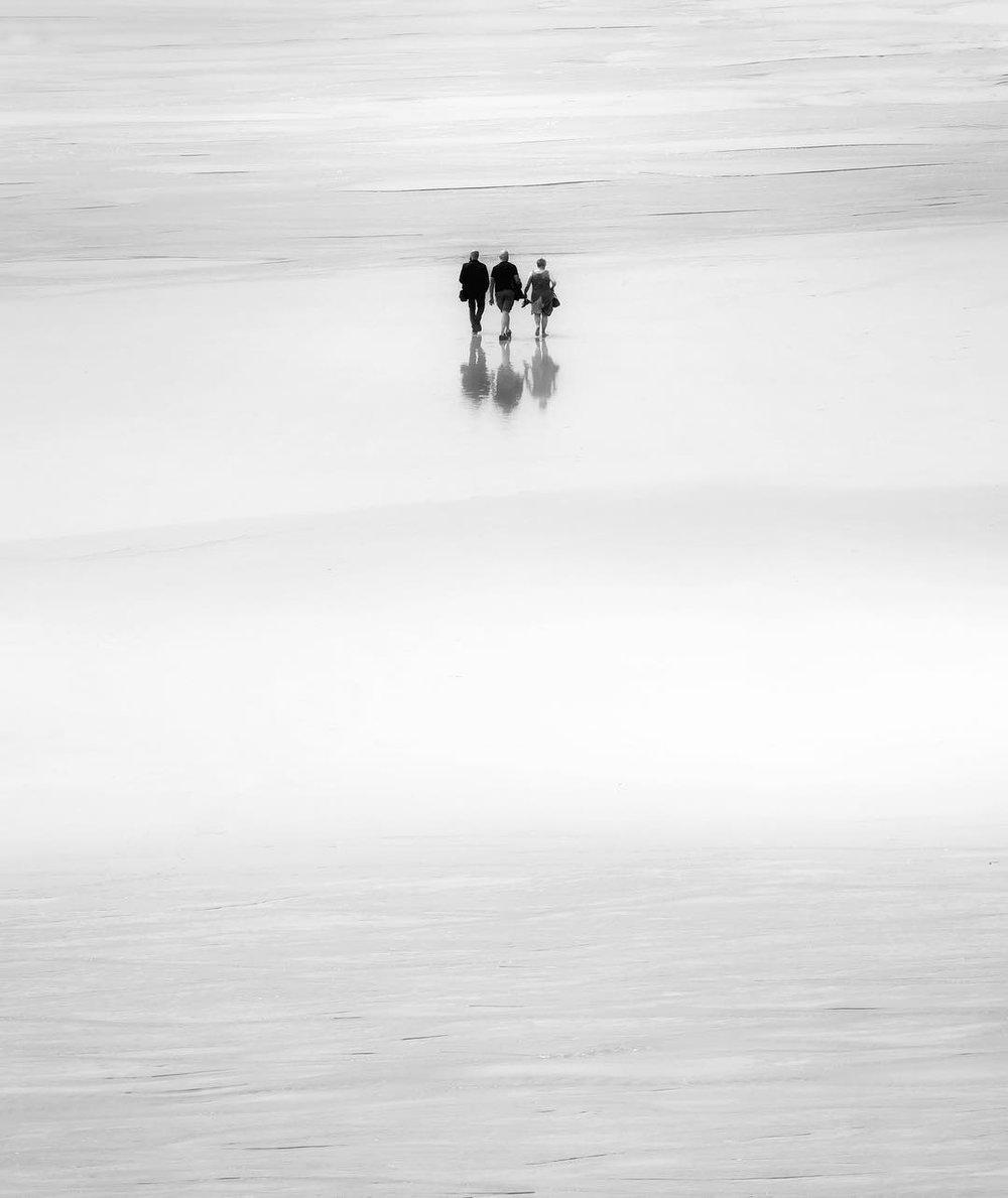 """Noel Bodle,  """"Walking the Beach"""""""