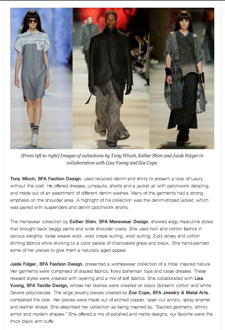 http://www.fashionschooldaily.com/index.php/2014/05/14/academy-of-art-university-fashion-designers-shine-at-the-spring-graduation-runway-show/