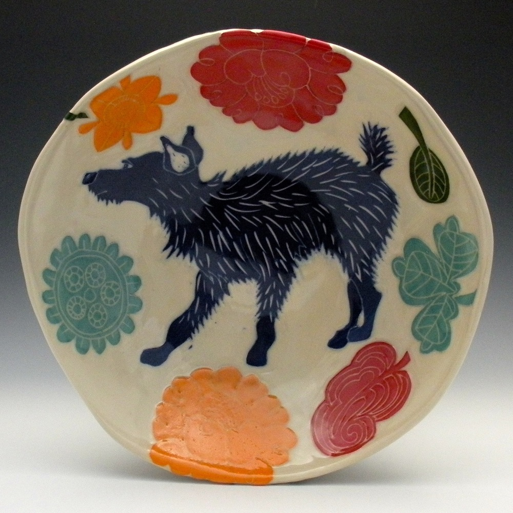 SCRAPPY DOG SERVING BOWL