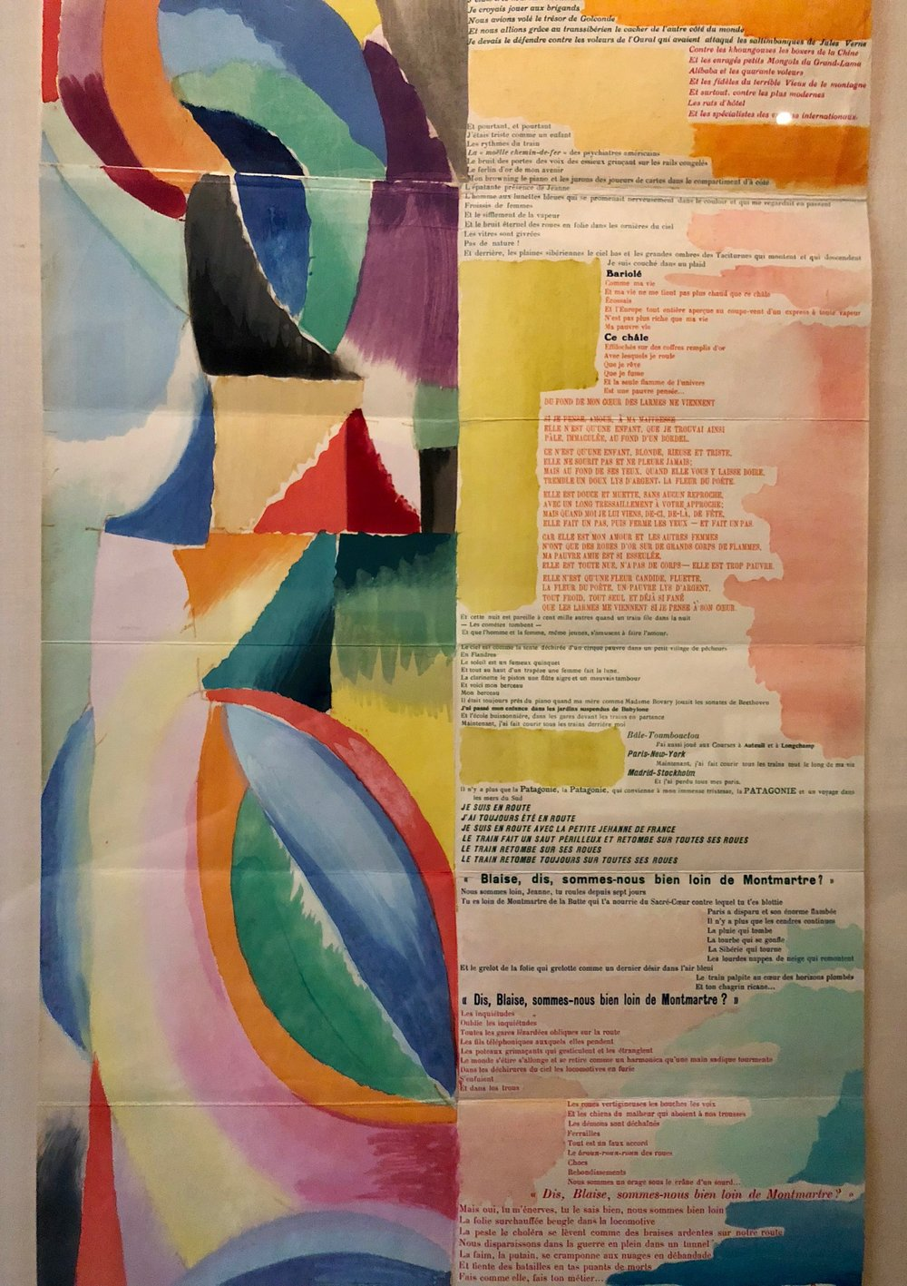 Trans-Siberian Railway and of Little Jehanne of France 1913 a collaboration between artist Sonia Delaunay poet Blaise Cendrars