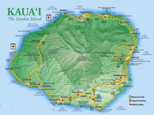 Click for a larger map of Kauai