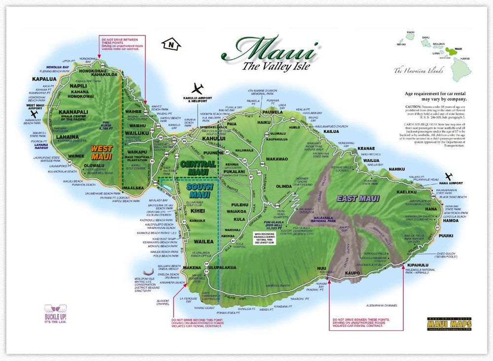 Click for a larger map of Maui!