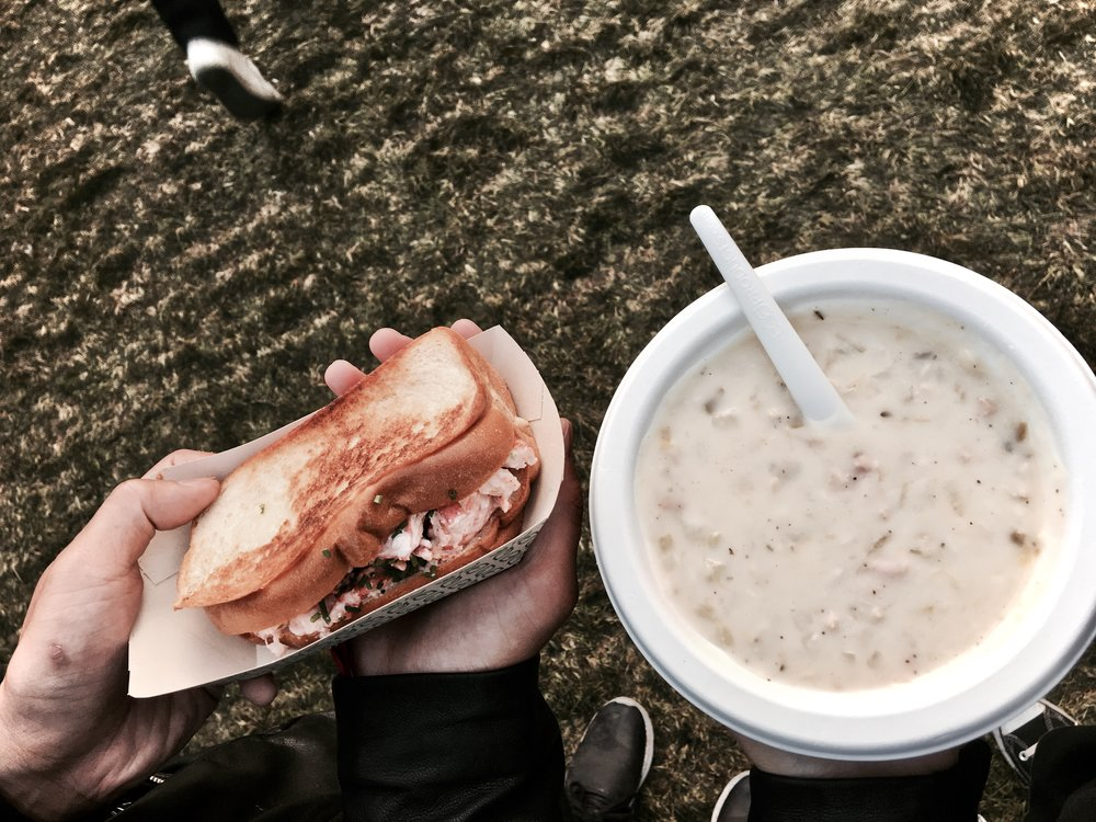 Lobster Roll + Clam Chowder -