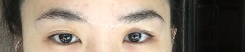 OMG, here are my natural eyebrows from before LOL 😱😂