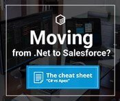 Moving from .Net to Salesforce?