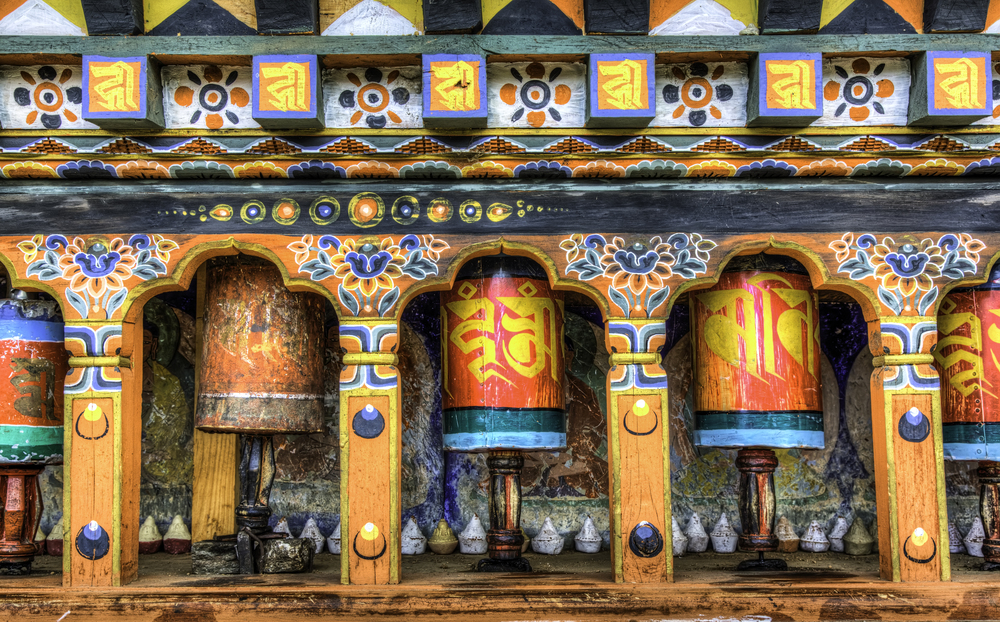 Stationary Prayer Wheels