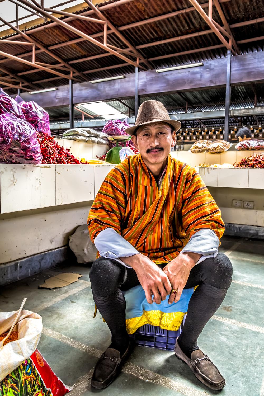 Bhutanese Market Seller