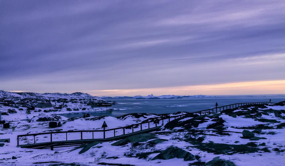 Arctic Brushstrokes In The Sky