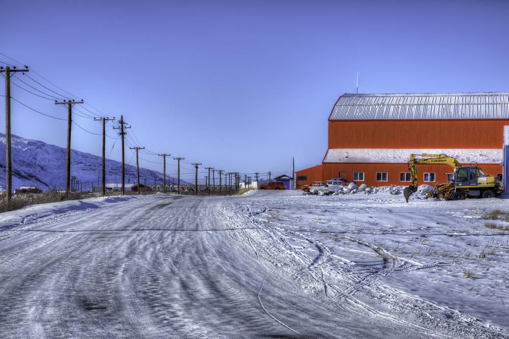 Behind Kangerlussuaq Airport