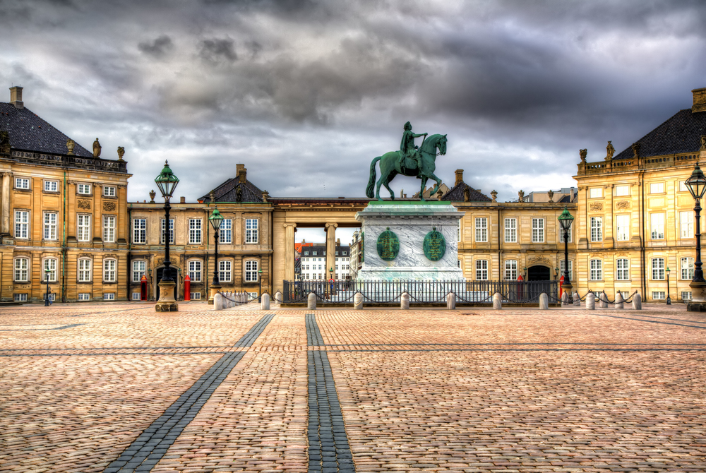 Classical Danish old world courtyard.