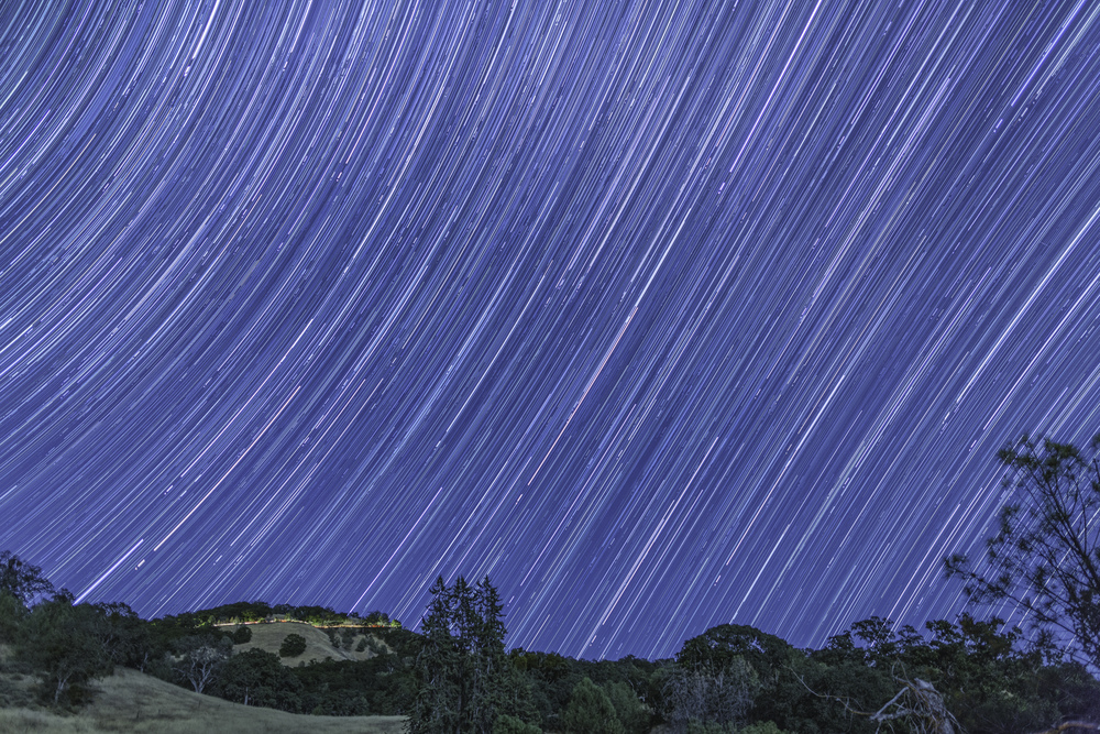 Star Trails From Mount Hamilton