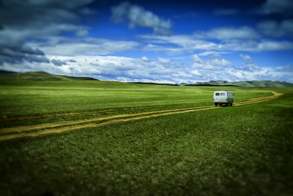 Traveling Through The Mongolian Countryside