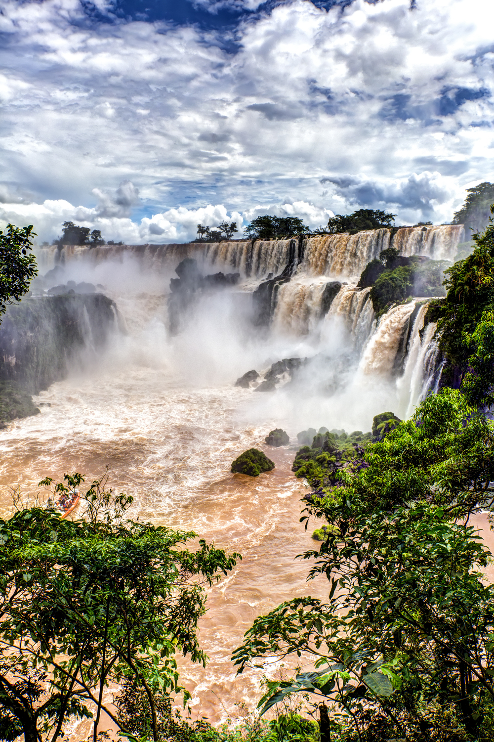 The Curve Of Iguazu Falls