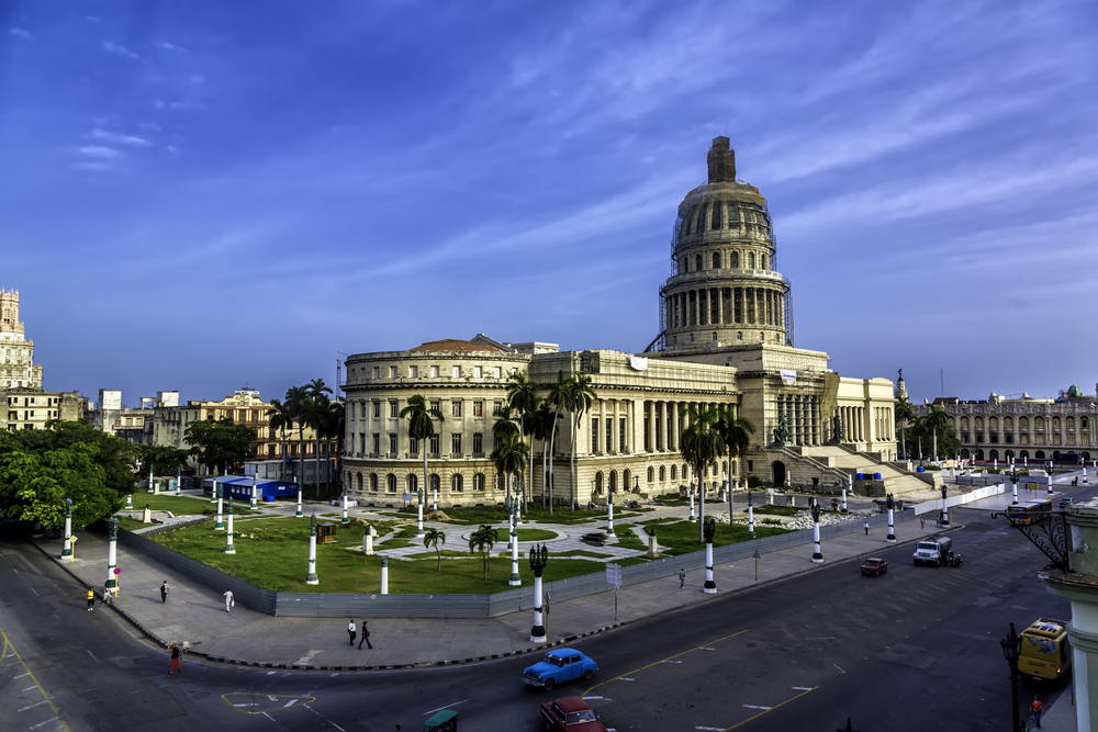 El Capitolio, the National Capitol Building in Havana.