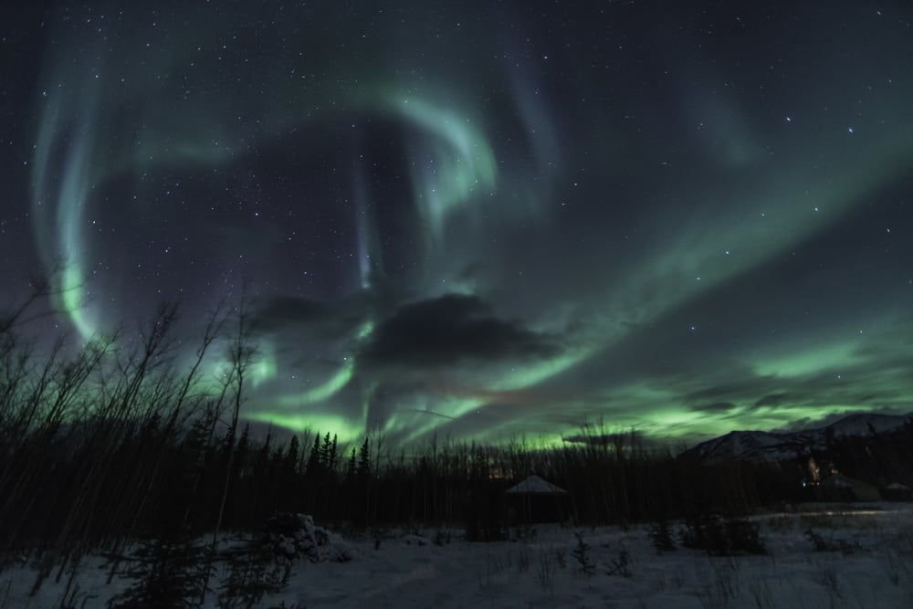 Heart Shaped Northern Lights