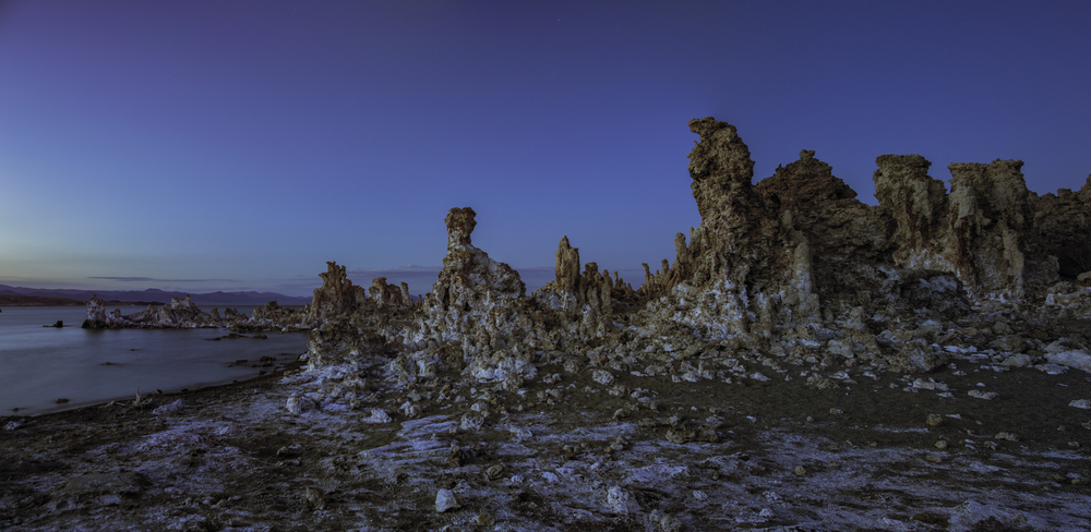 Tufa Columns At Sunset